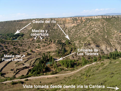 Vista del río Mijares, tomada desde donde iría la cantera.